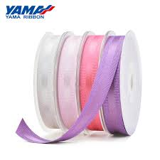 <b>YAMA</b> Polyester Gold Purl <b>Grosgrain Edge</b> Satin <b>Ribbon</b> 26715