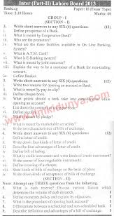 past papers lahore board icom part banking essay group