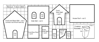 Best Photos of House Template Pattern   Christmas Paper House    Gingerb House Template