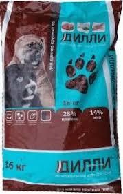 Дилли <b>корм для щенков</b> крупных пород купить в интернет ...