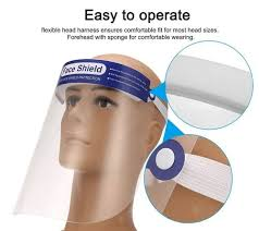 <b>Adjustable Transparent Face Shield</b> Protective Mask Anti-fog Anti ...