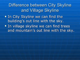 cities and villages village skyline  difference between city