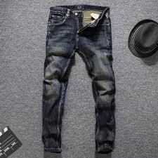 <b>European American Autumn Winter</b> Fashion Men Jeans Dark Color ...