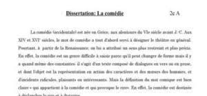 Les Fonctions de la comedie dissertation