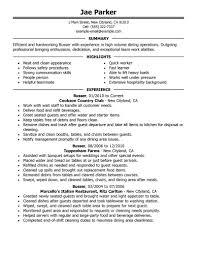 best busser resume example livecareer create my resume
