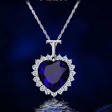 <b>Fashion Trend</b> Blue Heart Crystal Copper Ladies <b>Necklace</b> Wedding ...