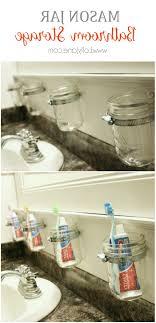 bathroom decor ideas mason jar storage