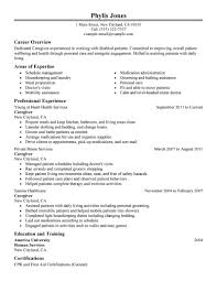 caregiver resume samples template caregiver resume samples
