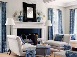 living blue room white