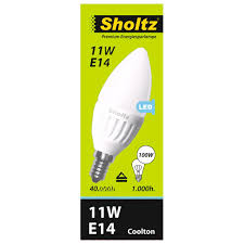 <b>лампа светодиодная SHOLTZ</b> 11Вт E14 828лм 4000K 220В свеча ...