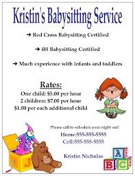 babysitting leaflet template flyers flyer and xianning it