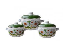 Купить набор посуды для готовки <b>СтальЭмаль</b> Ромашки Лето (2 ...