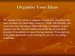 basic guide to writing an essay   presentation english language  organize your ideas