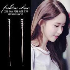 S925 <b>silver</b> needle Zircon Earrings Korea East Gate temperament ...