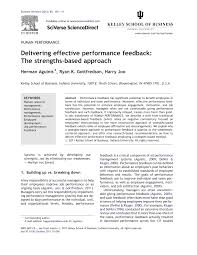 research paper pdf delivering effective performance feedback research paper pdf delivering effective performance feedback the strengths based approach