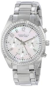 <b>Caravelle New York</b> Women s 43L159 Analog White Dress Watch ...
