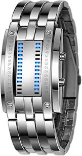 Binary Matrix Blue LED Digital Waterproof Watch ... - Amazon.com