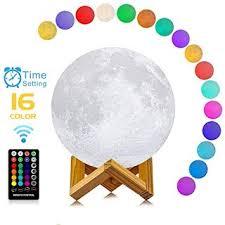 """016""""REVIEWS"""" LOGROTATE Moon Lamp 3D Printing <b>16 Colors</b> ..."""
