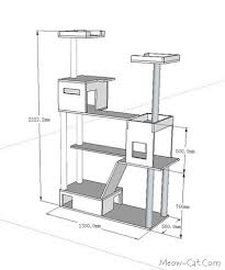 ideas about Cat House Plans on Pinterest   Outdoor Cat    DIY Cat Tree Plans   Cat tree plan for in cat tower