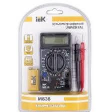 Отзывы о Цифровой <b>мультиметр IEK M-838</b>