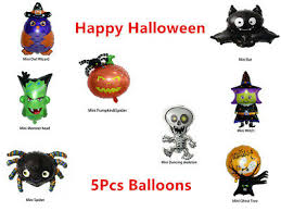 5 Pieces Mini <b>Halloween</b> Party <b>Pumpkin Ghost Aluminum</b> Balloons ...