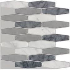 stick wall tiles quotxquot: peelampstick mosaics peel and stick marble composite vinyl mosaic scale peel and stick wall