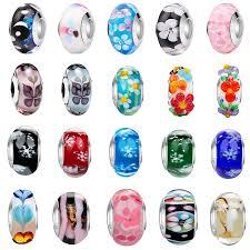 free shipping <b>1pc</b> pink flower moon <b>star</b> snowflake murano glass <b>diy</b> ...