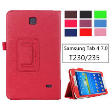 SM T231 SM T230 Litchi <b>PU Leather Flip Case</b> Cover For Samsung ...