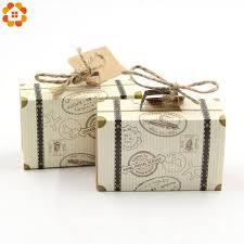 <b>10PCS</b>/Lot <b>DIY</b> Travel Paper Box <b>Vintage</b> Mini Suitcase Candy Box ...