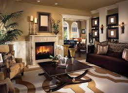 warm living room ideas: warm living room with brown tones