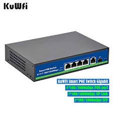 KuWFi 5-Port PoE Switch Gigabit Ethernet 1 Port ... - Amazon.com