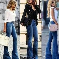Фото, с чем носить <b>джинсы клеш</b>: 25 стильных образов на 2019 ...