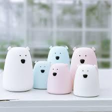 <b>Silicone</b> Night Light Bedside Lamp <b>Bear</b> Color Light Children <b>Cute</b> ...