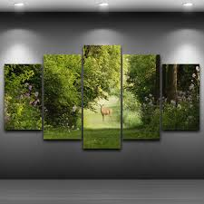 <b>Frame Canvas</b> Painting <b>Print</b> Wall Art Nature Landscape Poster 5 ...