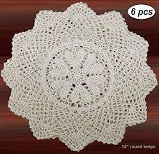 Creative Linens 6PCS 12 Inch Round Handmade ... - Amazon.com