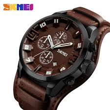<b>SKMEI Fashion Sport</b> Quartz Watch Men Luxury Business Leather ...