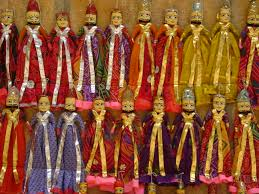 rajasthan up down dolls are found in the roadside shops of jaisalmer