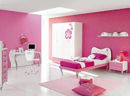 girls room decor ideas painting: wonderful pink girl bedroom painting idea feat stylish twin bed size design and white swivel chair