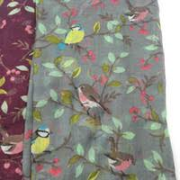 Discount Bird Printed Scarf | Bird Printed Scarf <b>2019</b> on Sale at ...