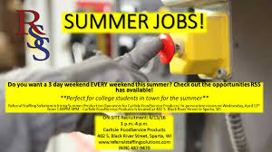 have a 3 day weekend every weekend this summer these positions can be great for college students recent high school students teachers or those just seeking summer employment