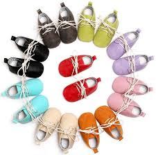 Lace up solid PU <b>leather Baby</b> Moccasins oxford <b>Shoes Newborn</b> ...
