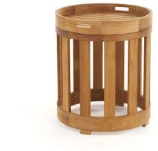 Westminster Teak Furniture Kafelonia <b>Side Table</b> w/<b>Serving</b> Tray