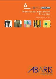 2014 waterproof equipment price list effective jan 2014 by Abaris ...