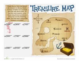 5th Grade Division Worksheets & Free Printables | Education.comWorksheet. Long Division Treasure Map
