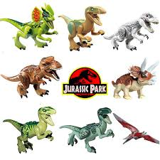 <b>Jurassic</b> World Park Dinosaur <b>Assembly Building Blocks</b> Sets 8pcs ...