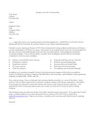 examples of internship cover letters template examples of internship cover letters