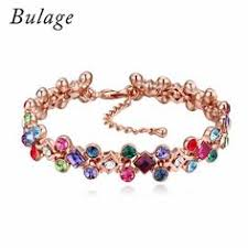 <b>Bulage</b> Luxury <b>Crystal</b> From Austrian Bracelets Rose Gold Color ...