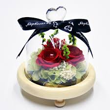 <b>Eternal Flower Finished</b> Colorful Luminous Glass Cover Diy Gift <b>Box</b> ...