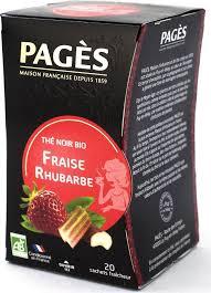<b>Чай черный Pages</b>, клубника, ревень, 20 пакетиков