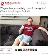 Manchester United virals: Wayne Rooney sits on sofa for Champions ... via Relatably.com